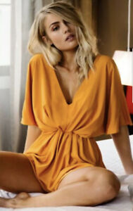 Sheike mustard marigold orange playsuit romper size 10