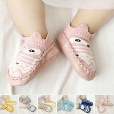 Baby Kids Cotton Cartoon Shoes Toddler Anti-slip Boots Slipper Socks prewalker
