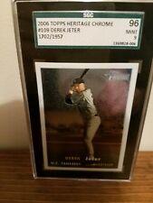 2006 Topps Heritage Chrome Derek Jeter #109 Baseball Card - SGC-9 Mint