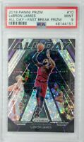 2018-19 Panini Prizm All Day Fast Break Lebron James #10, Graded PSA 9