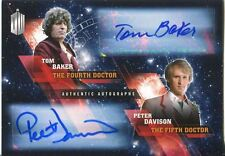 Doctor Who Timeless Dual Autograph Card Tom Baker & Peter Davison