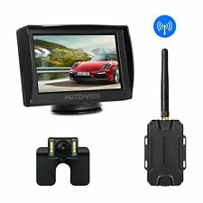AUTO-VOX M1W Wireless Backup Camera Kit LCD Mirror Monitor + Rear View Camera