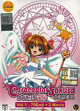 Anime DVD Cardcaptor Sakura Complete TV Series + 2 Movies Animation Box Set