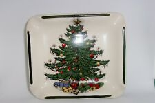 Vintage Cuthbertson Ashtray England Square Wide Lines  Original Christmas Tree