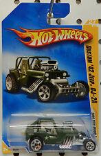 CUSTOM 42 CJ 2A DRAG SAND BUGGY 2009 27 ARMY GREEN WILLYS AMC JEEP HW HOT WHEELS