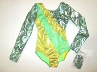 New Girls SC (4-5) Child XS Small Long Sleeve Leotard Dance Gymnastics Capezio
