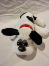 """Vintage Tonka POUND PUPPY 8"""" White with Black Spots + Red Collar 1986"""
