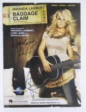 "MIRANDA LAMBERT Signed Autograph ""Baggage Claim"" Sheet Music"