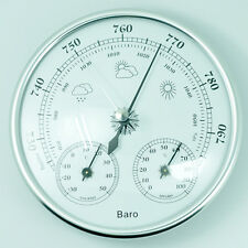 130mm Barometer Weather Thermometer Hygrometer Wall Home Outdoor 960~1060hPa New