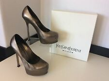 YSL YVES SAINT LAURENT Court Tribute Pump Shoes 37.5 Uk 4.5 Boxed Rrp £550 Clay