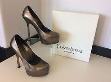 YSL YVES SAINT LAURENT Court Tribute Pump Shoes 37.5 Uk 4.5 Boxed Rrp £550 Clay
