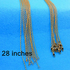Wholesale Jewelry 10PCS 28inch 18K Gold Filled Rolo Chain Necklaces Pendants