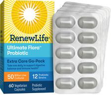 Renew Life Ultimate Flora Extra Care Probiotic 50 Billion - 60 Vcaps   Go Pack