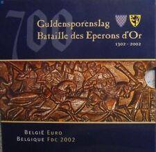 Belgie euroset 2002, gulden sporenslag, in mapje