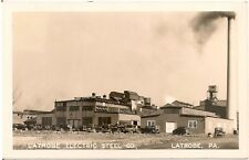 Latrobe Electric Steel Company in Latrobe PA RP Postcard