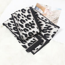 Leopard Print Skinny Silk Scarf Women Handle Bag Ribbon Neckerchief Headscarves