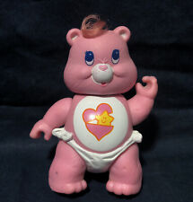 Vintage 1983 Kenner Care Bear Pink BABY HUGS BEAR Poseable PVC Figure