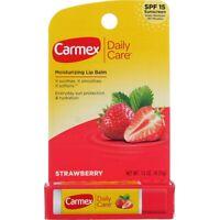 Carmex Daily Care Moisturizing Lip Balm Stick, Strawberry, SPF 15, 0.15 oz