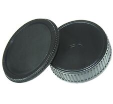 Pentax K Mount Body Cap & Rear Lens Cap Set fits for PENTAX K cameras and lenses
