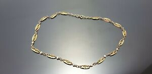 Collier or 18 carats Perles FINES Filigrane 8.9 Grammes 40 cm