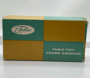 Vintage FULLER BRUSH #470 Table Tidy crumb sweeper in original box with receipt!