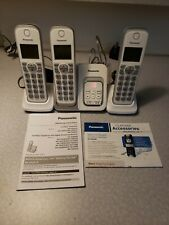 Panasonic Model KX-TGD530 White Cordless Phone Answer Machine Handsets TESTED