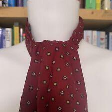 Vintage Tootal Cravat  - Red - Black Square Pattern