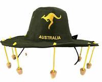 Australian Cork Hat Adult Green Wid Brim Hat Dress Costume Aussie OZ Souvenir