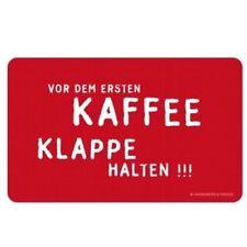 Rannenberg & Friends Frühstücksbrettchen Vor dem ersten Kaffee Klappe hal