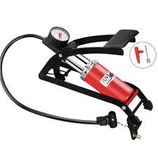 Single barrel foot pump Car bike tyre tire air inflatable bicycle pressure guage