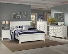 New Classic Furniture Tamarack Queen White 6 Piece Bedroom Set