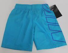 Boy/'s Nike Swoosh Logo Size Medium Blue Swimming Trunks Shorts NESS8697 NWT