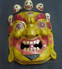 M143 Protector de mano artesanal MAHAKALA Bhairav regalo Máscara de madera colgante de pared Nepal