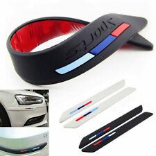 Rubber Front Rear/ Car Wheel Bumper Scratch Protector Strip Guard Corner Sticker