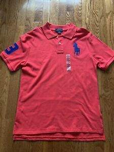 NEW Kids Boys Ralph Lauren Big Pony Polo short sleeve polo shirt Size XL(18-20)