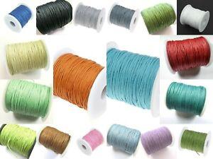 75m Baumwollband 1mm Baumwollschnur Baumwollkordel gewachst Farbwahl 1m=0,07 Eur
