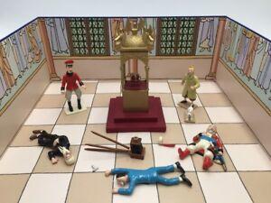 Figurine Tintin Pixi scène le sceptre d'ottokar boite Certificat moulinsart