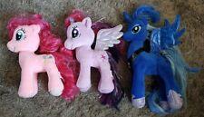 My Little Pony Ty Soft Toy Beanie Twilight Sparkle, Pinkie Pie & Princess Luna