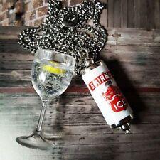 Unique SMIRNOFF Ice Fascino Collana in vetro vodka GHIACCIO in miniatura possono Cool fatto a mano