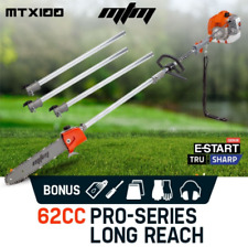 62cc Long Reach Petrol Pole Chainsaw Two Stroke Commercial Brush Cutter Pruner