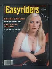 1984 OCTOBER EASYRIDERS MOTORCYCLE CHOPPER MAGAZINE HARLEY CUSTOM DAVID MANN
