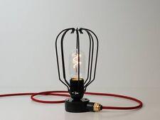 Desk Lamp | Conduit Box Drop Cage | Jet Black | Edison Vintage Steampunk E27