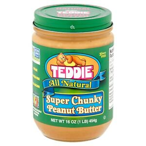Teddie All Natural Super Chunky Peanut Butter 16oz