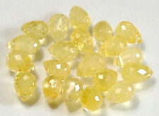 WE SELL QUALITY!  NATURAL YELLOW HIGH SPARKLE SAPPHIRE BRIOLETTES/drilled/2286C4