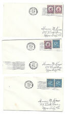 US 1932 Summer Olympics Los Angeles Sc 718 719 Pair set 3 Covers June 20 Airmail