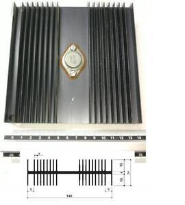 Dissipatore termico in alluminio per elettronica 140x140X24mm fori per 1 TO-3