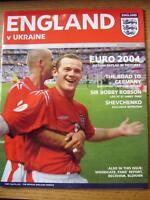 18/08/2004 England v Ukraine [At Newcastle United] (No apparent faults).