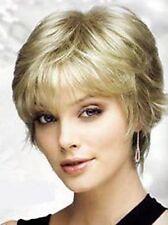 Wie Echthaar! Neu Mode kurze Platinum blond Perücken