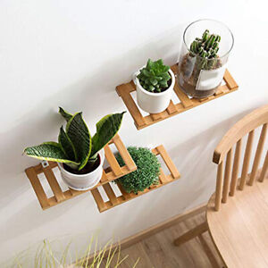 Wooden Long Storage Wall Mounted Shelf Display Hanging Rack Kids Room Decor W