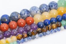 Natural 7 Chakra Beads Grade AAA Round Gemstone Loose Beads 4/6/8/10/12MM